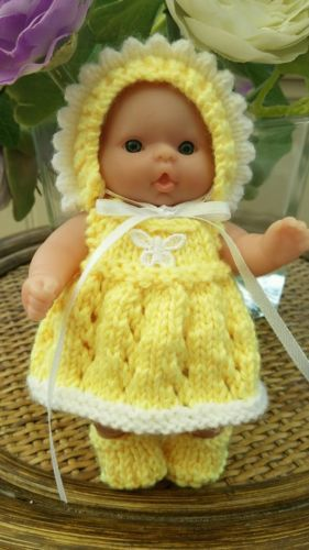 "Hand #knitted #clothes for 5"" #berenguer itty bitty doll,  View more on the LINK: 	http://www.zeppy.io/product/gb/2/322110762565/"