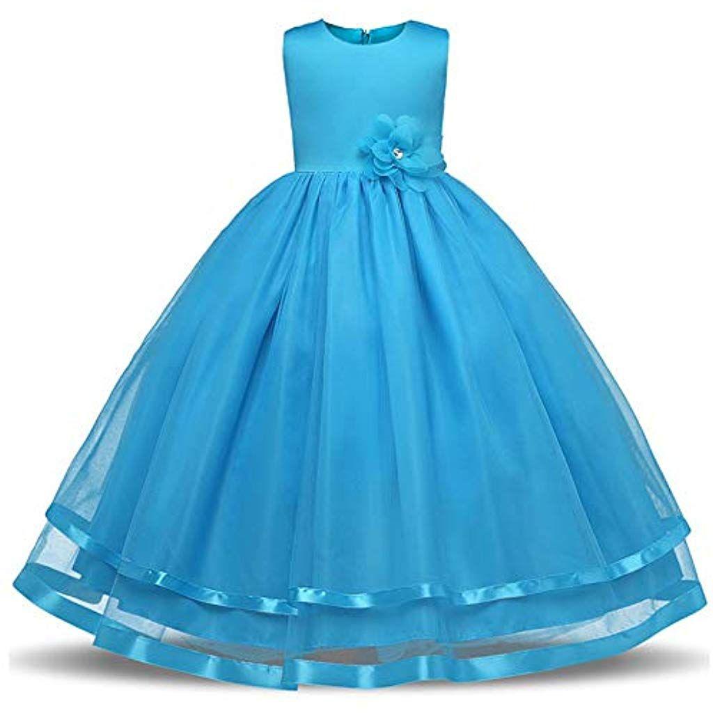 Kinderkleid Mädchen Kleid Kinder Geburtstagsparty Kleid Ärmellos