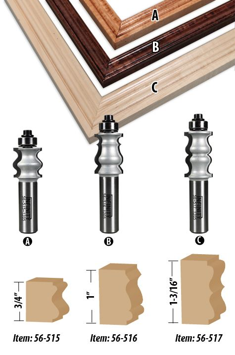 Picture & Mirror Frame Router Bits-Carbide Router Bits | Router Bit ...