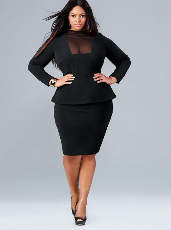 black dress womens plus size fashion unique style inspiration