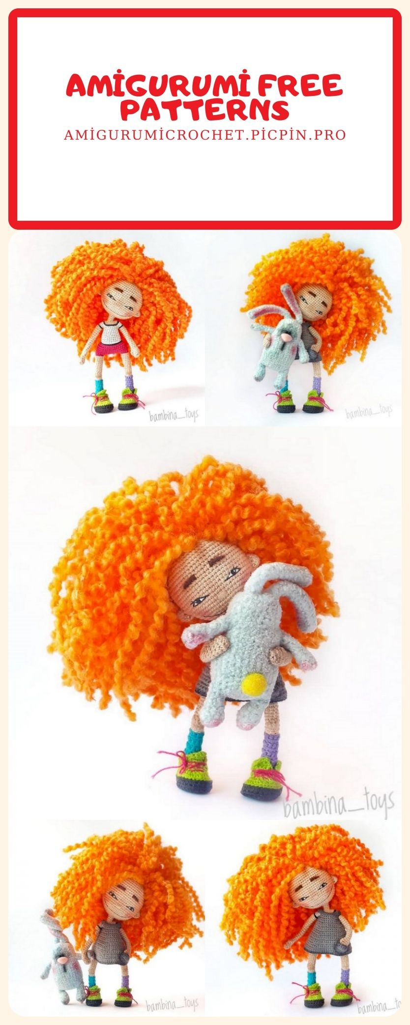 Free Crochet Amigurumi Doll Pattern Tutorials | Crochet dolls | 2084x834