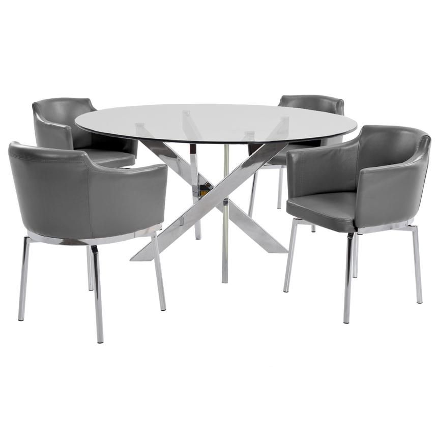Dusty Gray 5 Piece Casual Dining Set Dining Set Stylish Chairs