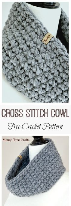Easy to make yet rich in texture - crochet cowl free pattern ...