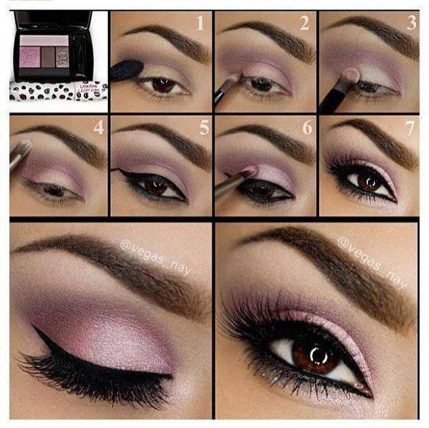 Pink Eyeshadow | Eyeshadow Tutorials for Brown Eyes - | How To ...
