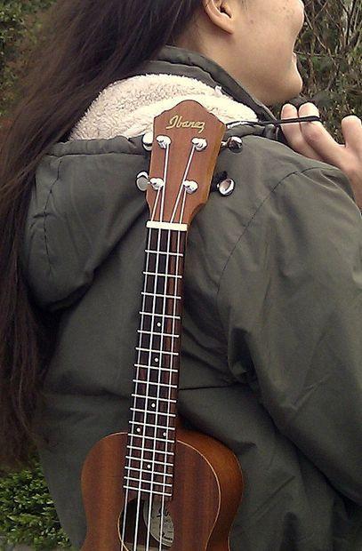 The uke sling ukulele hanger for indoor or outdoor use ukulele picture of the uke sling ukulele hanger for indoor or outdoor use solutioingenieria Gallery