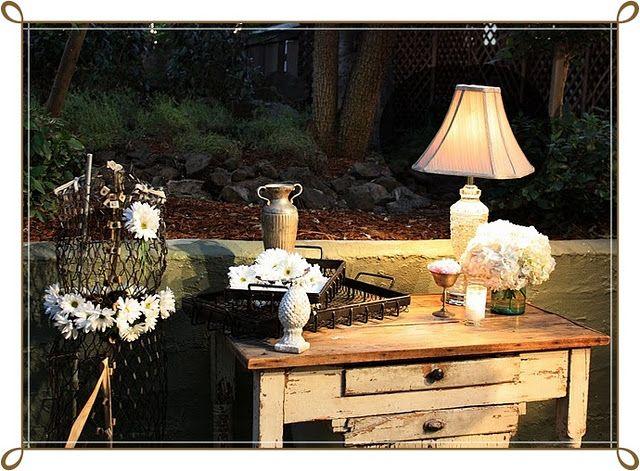Indoor setting in outdoor space