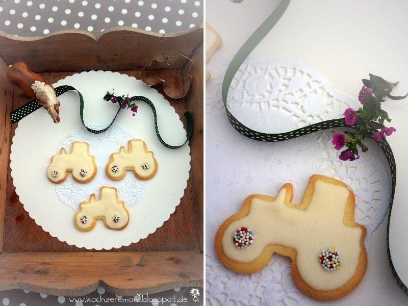 Vanille Traktor Cookies Traktor Cookies Kuchen Kindergeburtstag Vanille