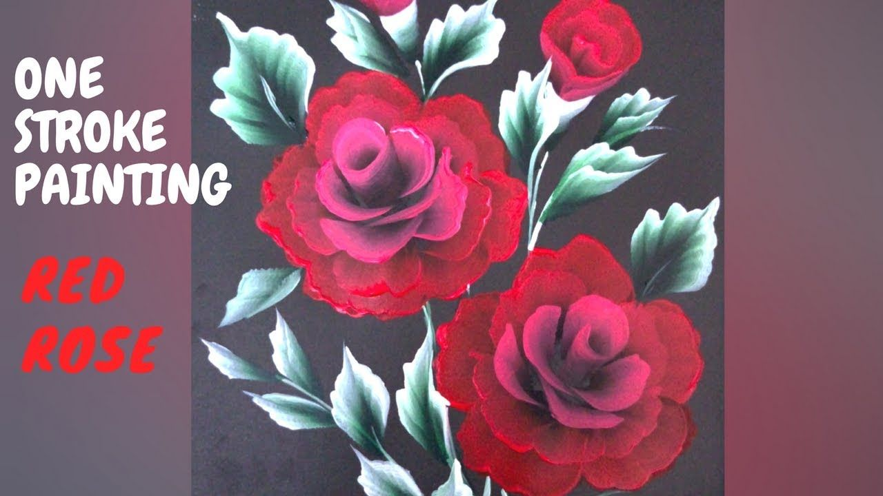 How To Paint Red Rose Simple And Easy Tutorial Christmas Series