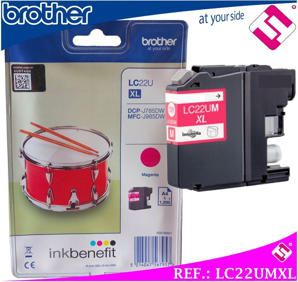 Tinta Lc22um Xl Magenta Original Cartucho Rosa Impresora Brother Hp 46 Black Colour Alta Capacidad