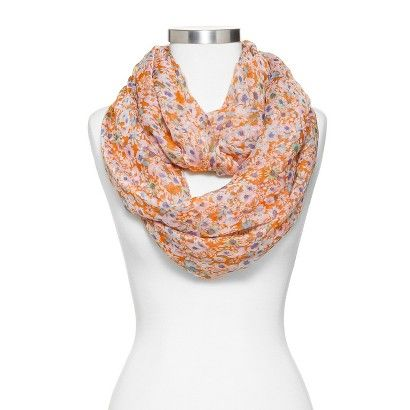 Women's Floral Print Infinity Scarf
