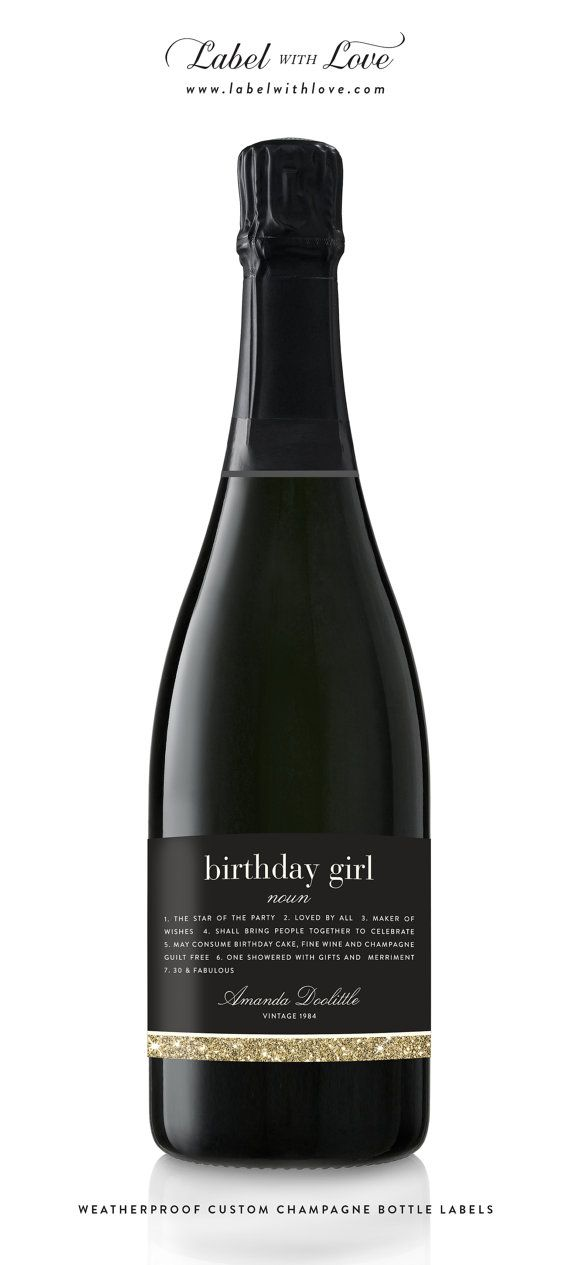 Happy birthday wine or champagne labels 30th 50th 40th 21st faux happy birthday wine or champagne labels 30th 50th 40th 21st faux glitter weatherproof removable wine label sticker label m4hsunfo