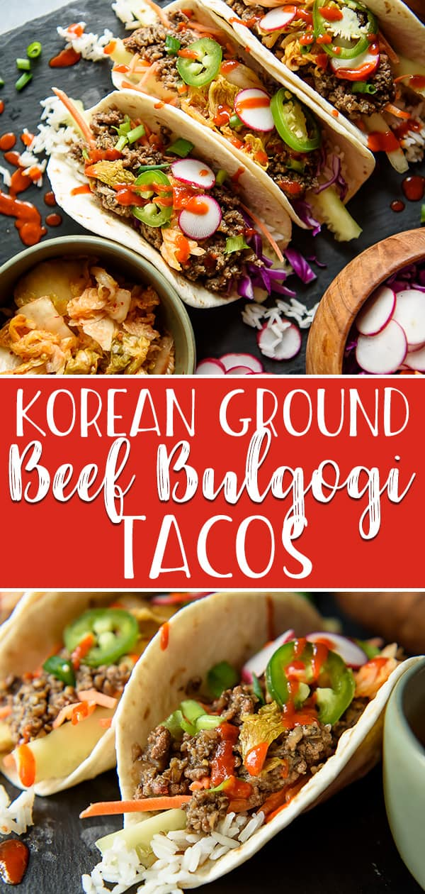 Get Dinner On The Table In 20 Minutes With These Korean Ground Beef Bulgogi Tacos A Mexican Twist On The In 2020 Bulgogi Recipe Korean Ground Beef Healthy Ground Beef