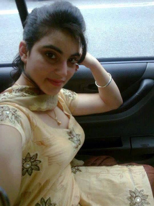 Hot Indian Girl Posing In Car.