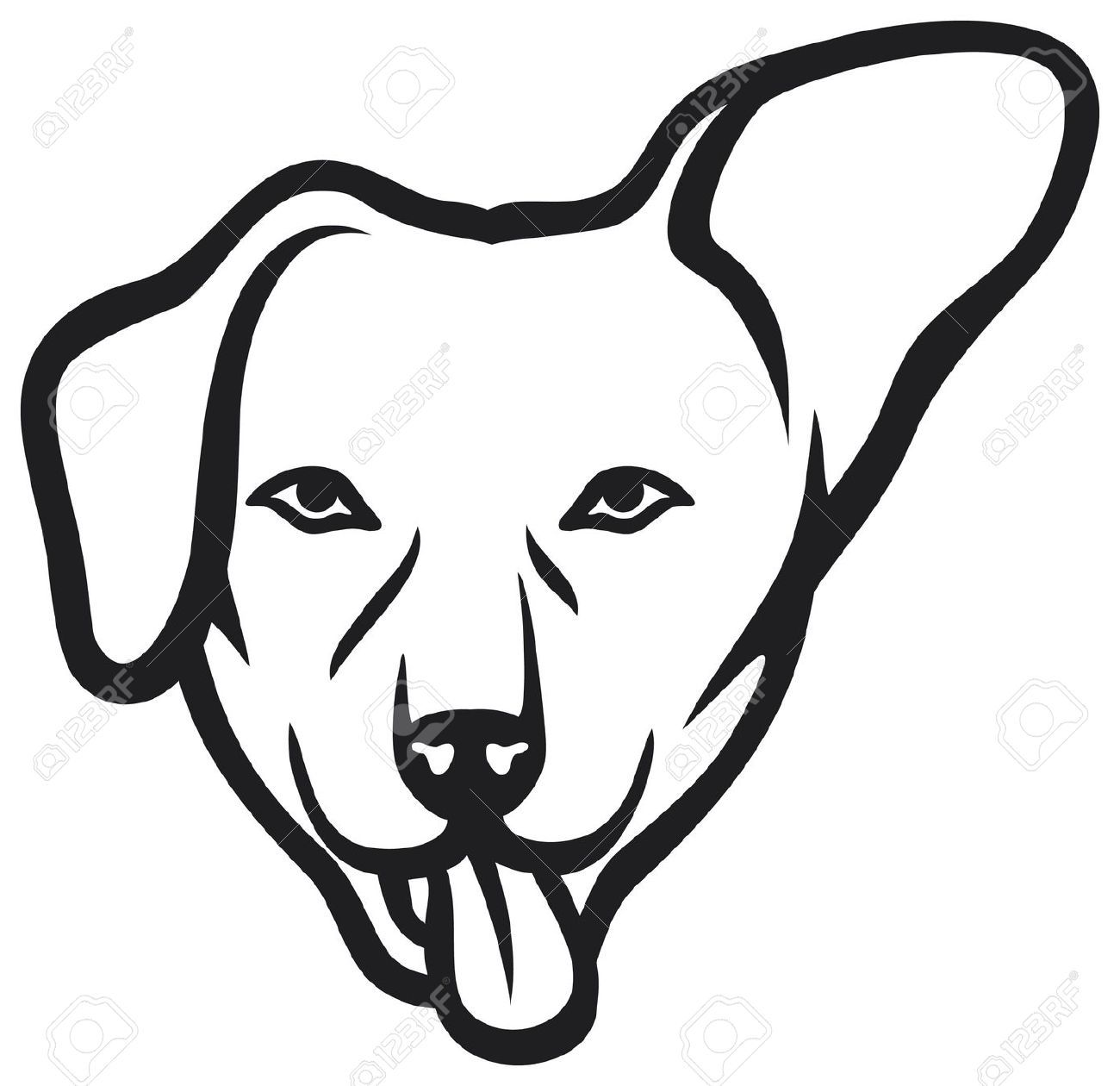 Line Drawing Dog Face : Dog face stock vector cartoon head g