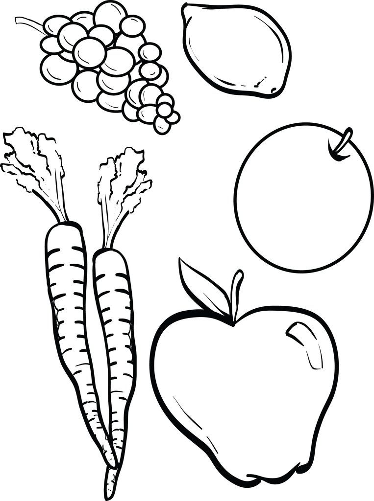 Fruits And Vegetables Coloring Page Fruit Coloring Pages Vegetable Coloring Pages Vegetable Crafts
