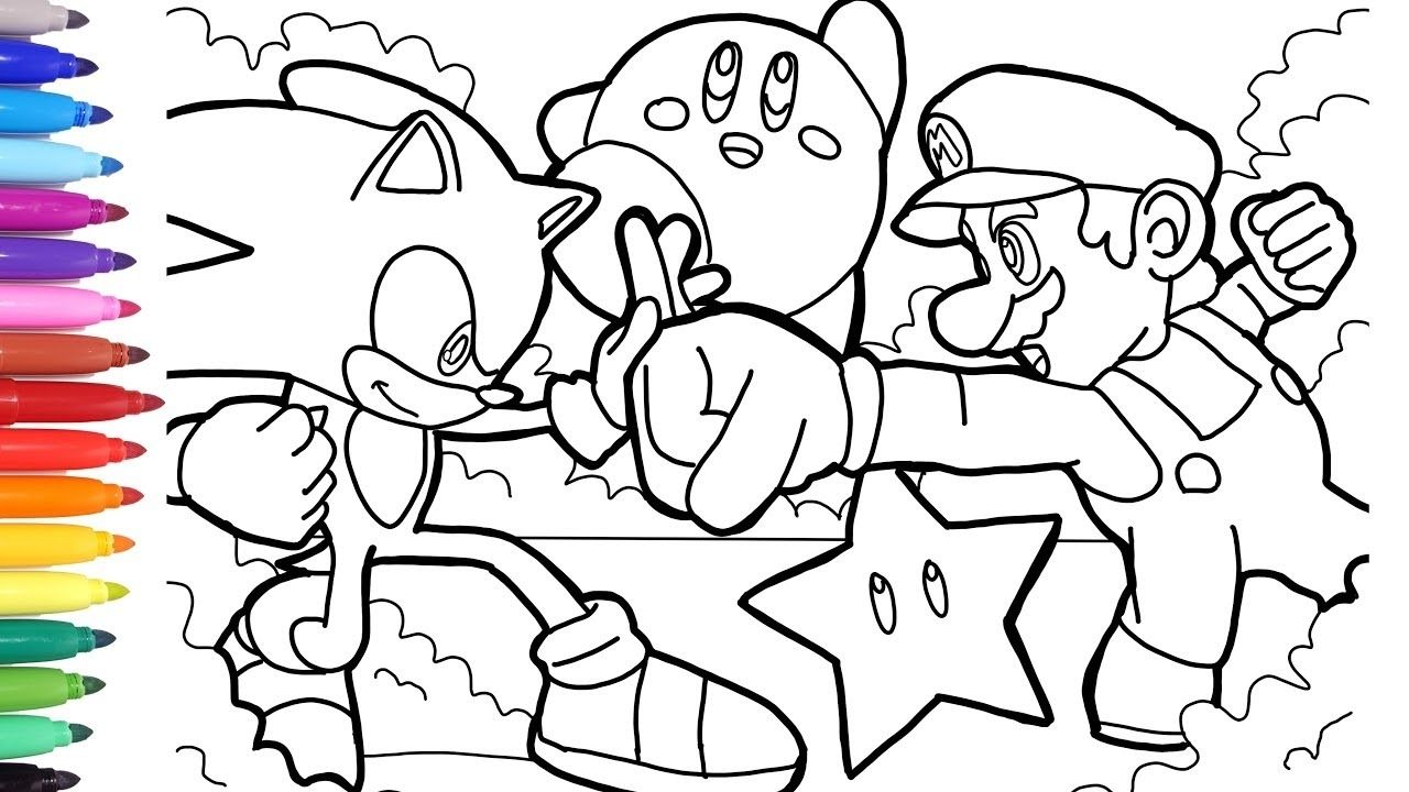 Sonic Mario Coloring In 2020 Mario Coloring Pages Minecraft