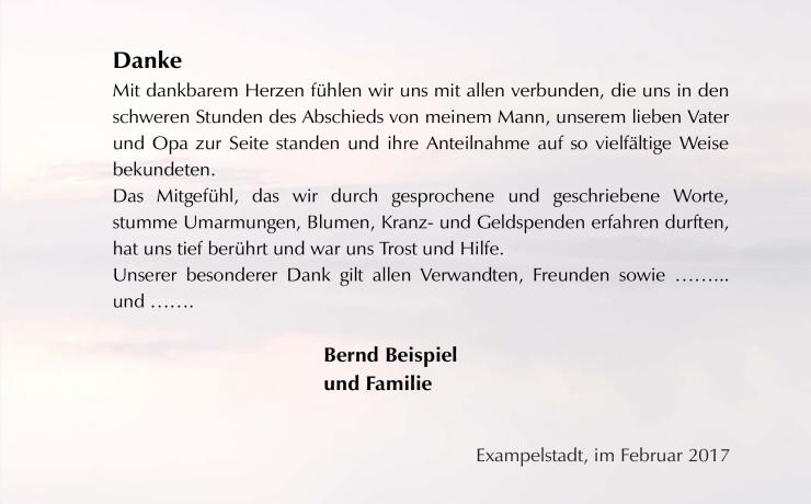 Moderne Trauerdanksagung Weg Steg See Klappkarte Danksagung Text Trauer Texte Danksagungen Trauer