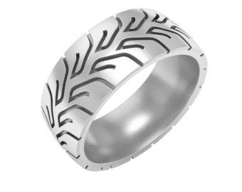 tire tread wedding band ring silver tire ring gold tire ring mud tire - Mud Tire Wedding Rings
