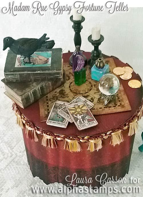 Alpha Stamps News » Madam Rue Gypsy Fortune Teller with Tutorial!