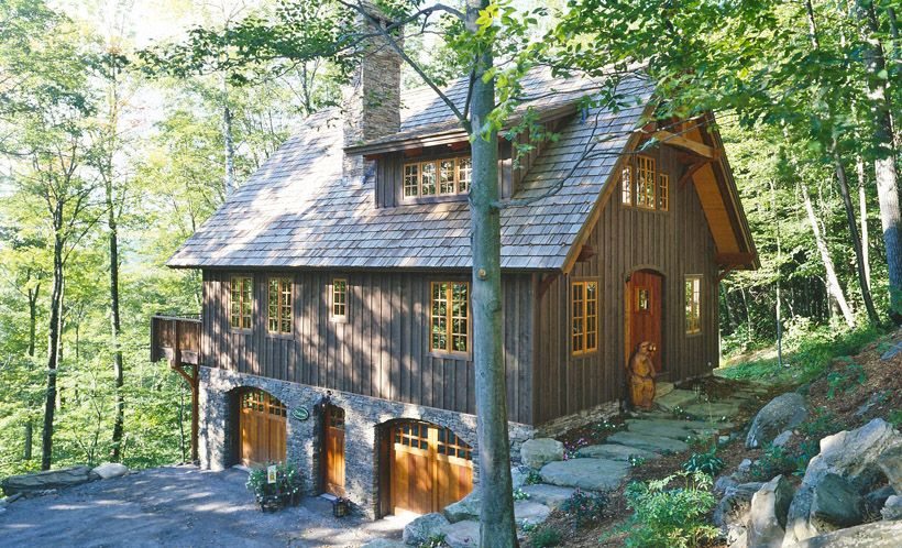 Attractive Post And Beam Small House Plans #7: Building A Micro House | The Plymouth | Carriage House Plan | Cottage Style  Home|