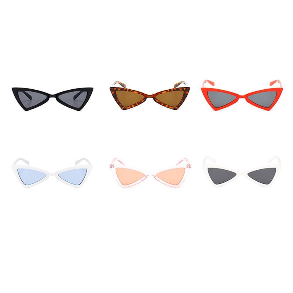 1e48b06b73 Peekaboo red triangle sunglasses women cat eye vintage black leopard cheap  butterfly sun glasses female new