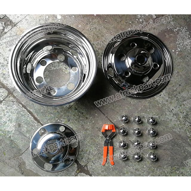 Chrome Wheel Cover 175in 6stud Pcd222mm For Hino Isuzu Fuso Ud