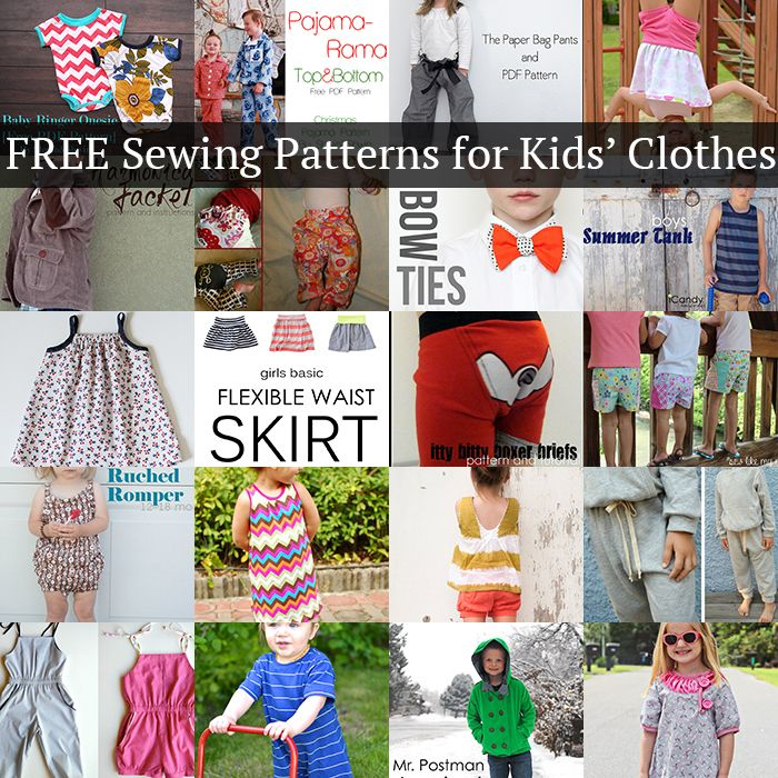 20 amazing FREE sewing patterns for kids\' clothes that you\'ll LOVE ...