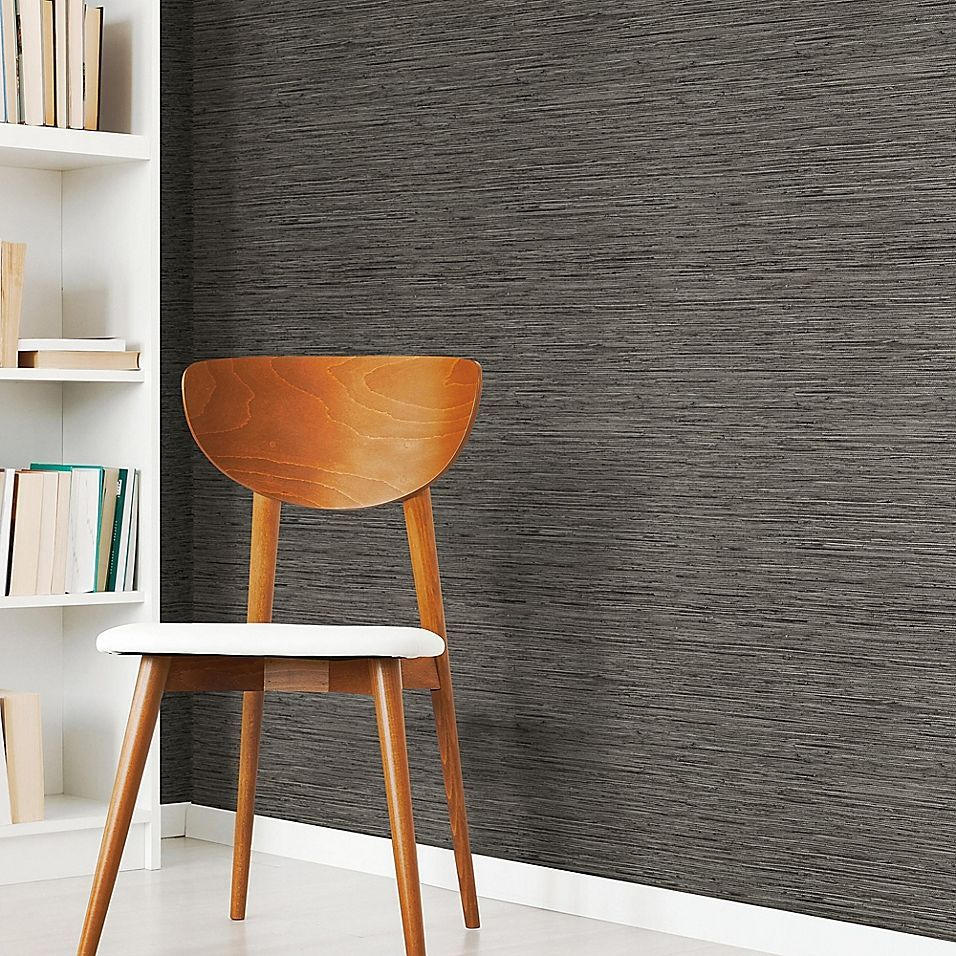 Roommates Grasscloth Peel Stick Wallpaper In Dark Grey 135671007514842338 Accent Walls In Living Room Peel And Stick Wallpaper Grass Wallpaper