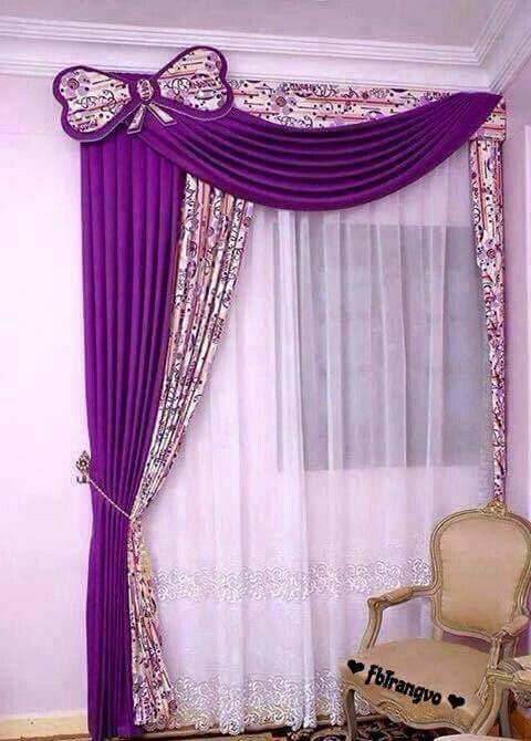 Cortina para cuarto de ni as cenefas y cortinas en 2019 for Modelos de cortinas para habitaciones
