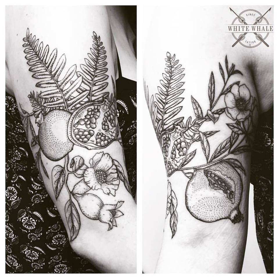 Stippling Tattoo Sleeves: Tattoos, Pomegranate Tattoo