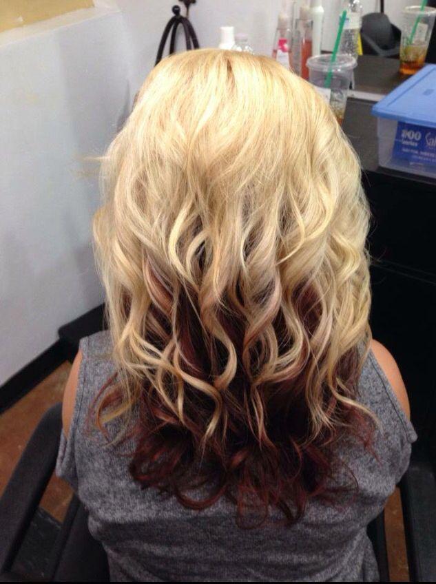 platinum blonde with red underneath my work pinterest