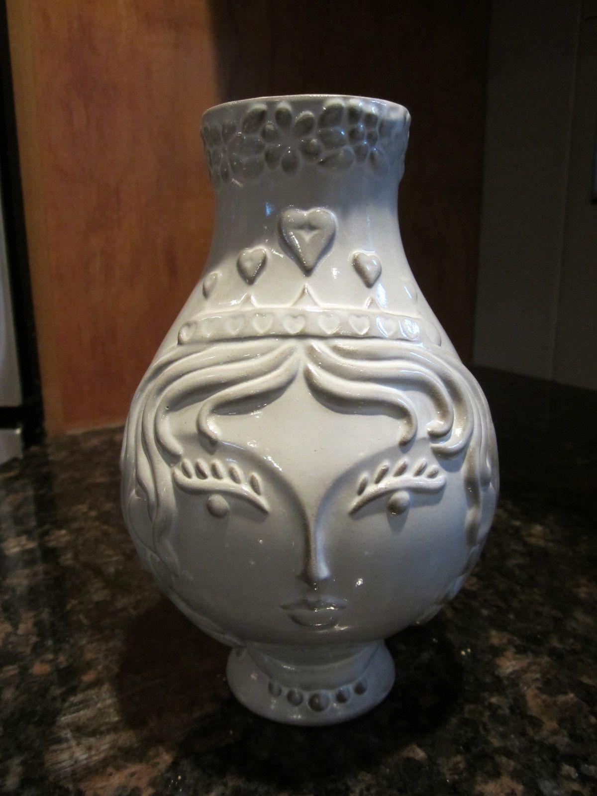3 Jonathan Adler King Of Hearts Utopia Vase Ebay