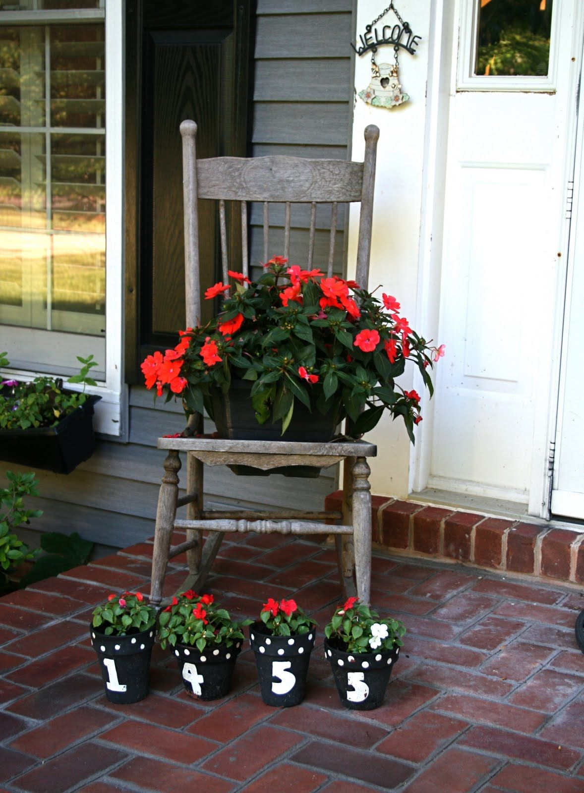 flowers on the front porch | Grandma\'s House | Pinterest | Front ...