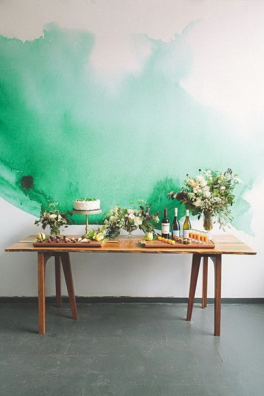 Painting Your Walls With Watercolors 25 Ideas Watercolor Mural