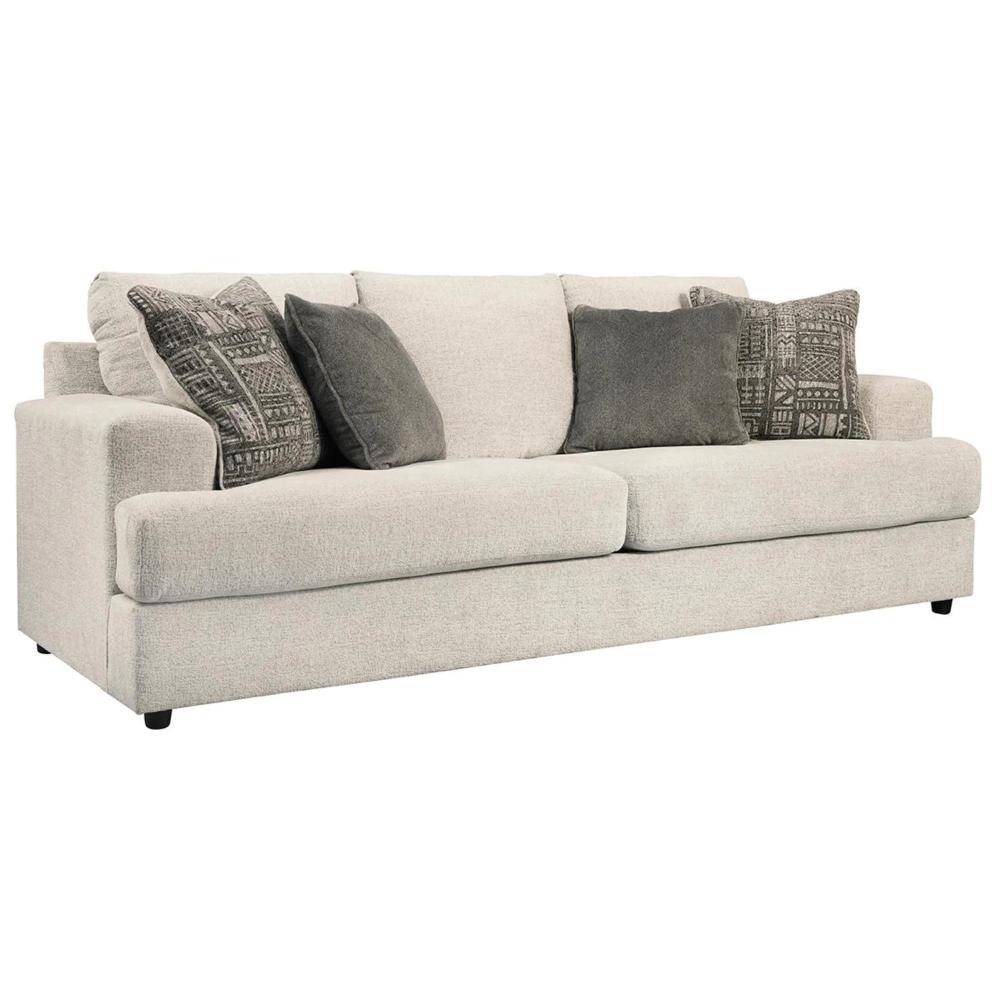 Signature Design By Ashley Soletren Queen Sofa Sleeper In Stone Nebraska Furniture Mart In 2020 Queen Sofa Sleeper Chenille Sofa Sofa