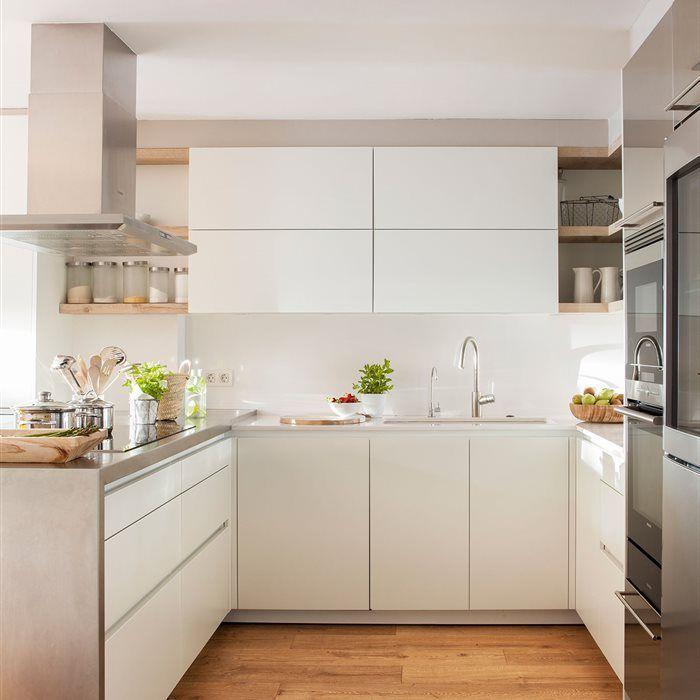 Cocinas peque as en l c mo organizarlas para exprimir - Cocina comedor en l ...