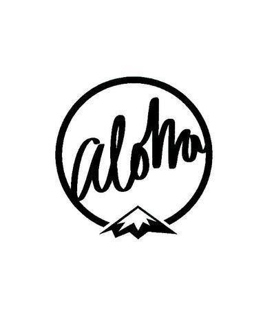 Aloha mountain vinyl sticker