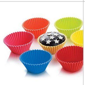 Set Of 6 X Silicone Zone Muffin Cups Reusable Cake Liners 4
