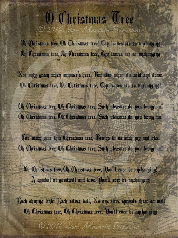 Primitive Grungy O Christmas Tree Song Lyrics Pantry Logo ...