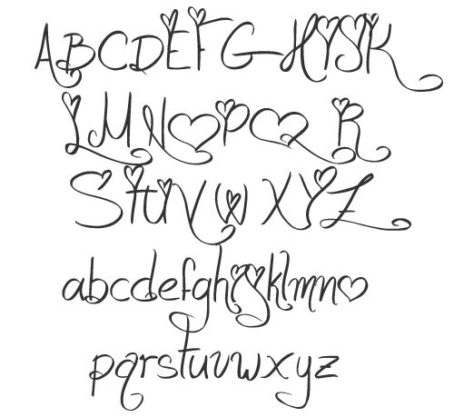 Different Font Styles Alphabet  Love And Passion Characters  Ink