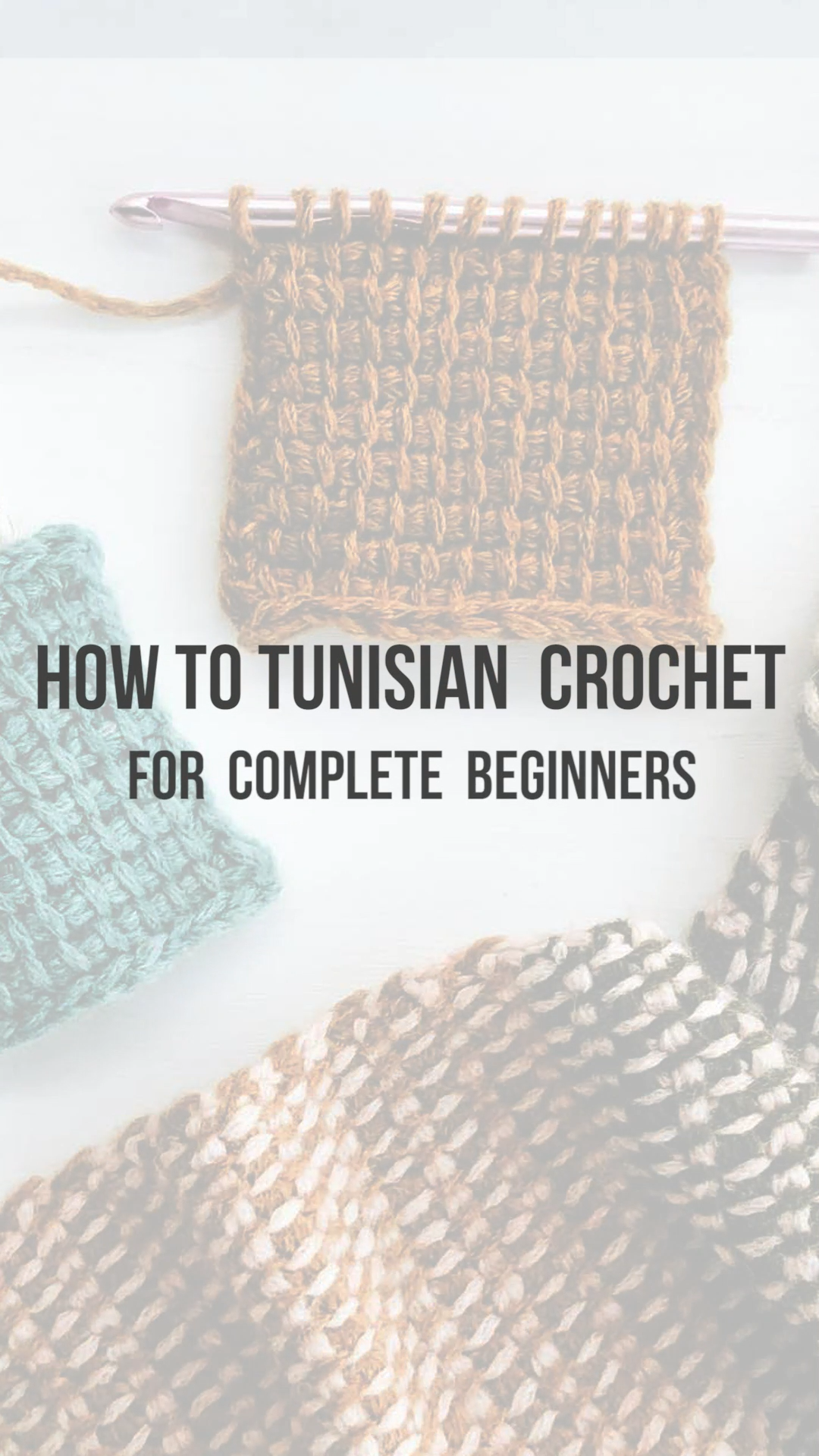 Free beginner-friendly Tunisian crochet video tutorial from Make & Do Crew - in this video tutorial, you will learn all the basics of Tunisian crochet, like how to start, what to make, what type of hook to buy, and more. The Tunisian simple stitch is perfect for beginners to start with. Includes instructions for right handed and left handed crocheters.   #Beginner #Crochet #started #Tunisian #tutorial #Video