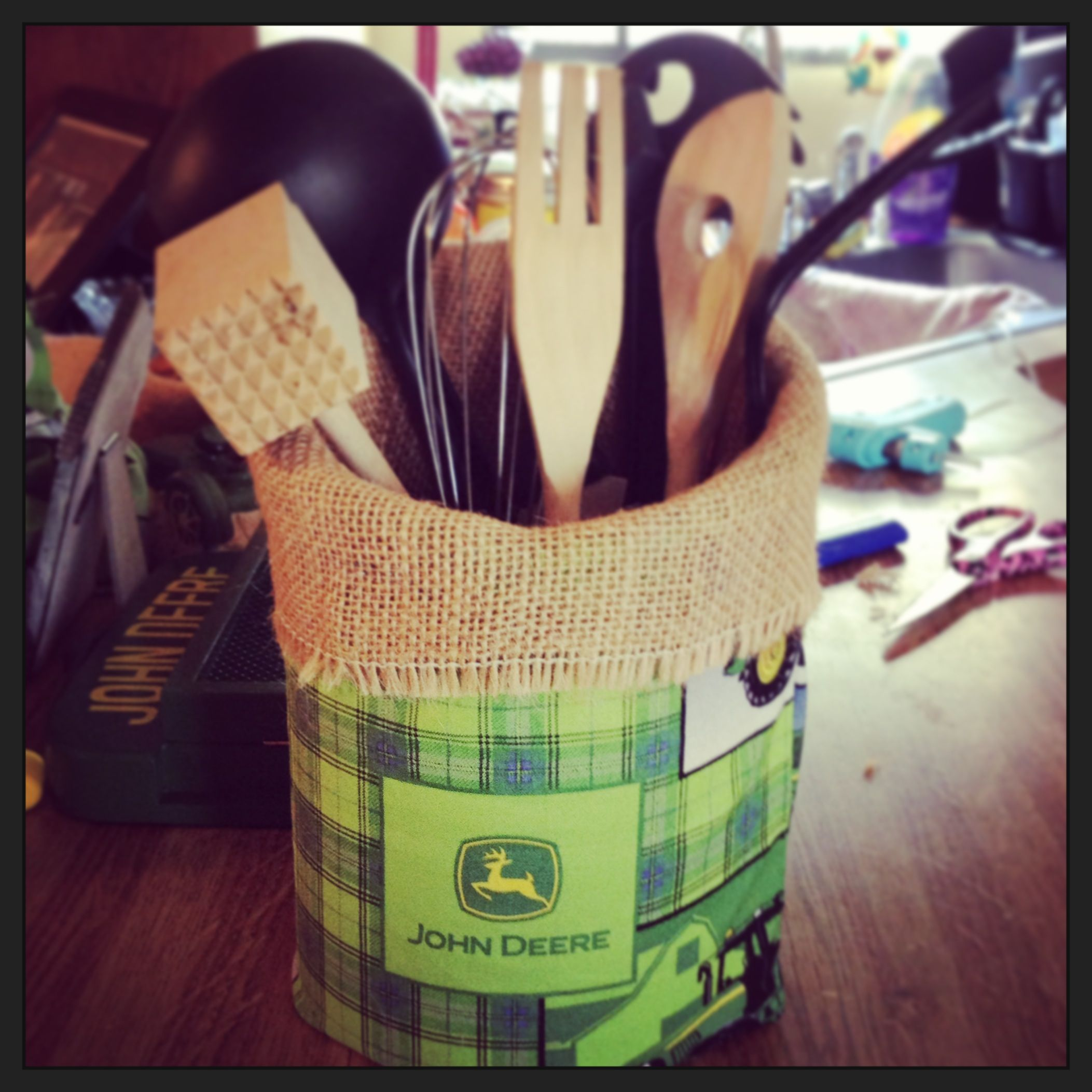 John deer utensil holder Crafts Pinterest
