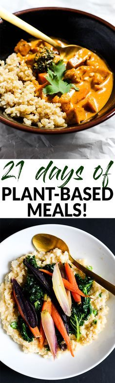 If y Pou want to eat plant-based but don't know where to start, this 21-day challenge full of delicious meals and inspiration will kickstart your journey!