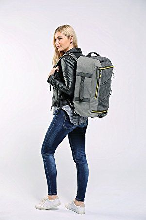 99d725392 Cabin Max Manhattan 55x40x20 Hybrid Trolley Backpack Flight Approved hand  luggage(Grey/Yellow): Amazon.co.uk: Luggage