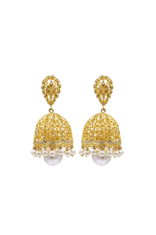 fc9cbf4df Crystal Big Jhumka Earrings #buy #artificial #jhumkas #earring #online # shopping #India #karigari