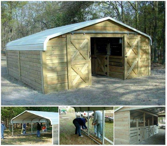 Carport Turned Barn | Garden | Diy carport, Shed plans, Deck