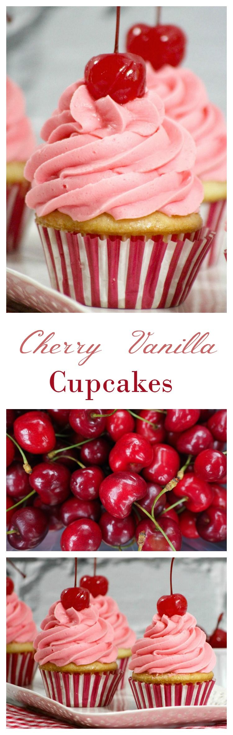 canada day recipe cherry vanilla cupcakes pinterest kakor. Black Bedroom Furniture Sets. Home Design Ideas