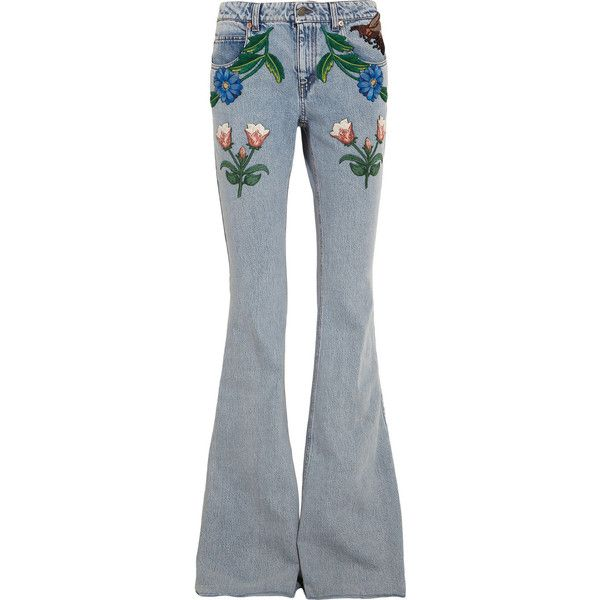Appliquéd flared jeans Gucci OFV5d1Jg