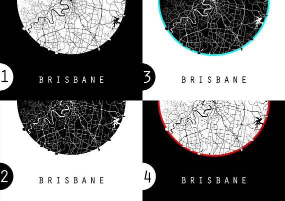 Brisbane map australia map world map maps black and white brisbane map australia map world map maps black and white gumiabroncs Gallery