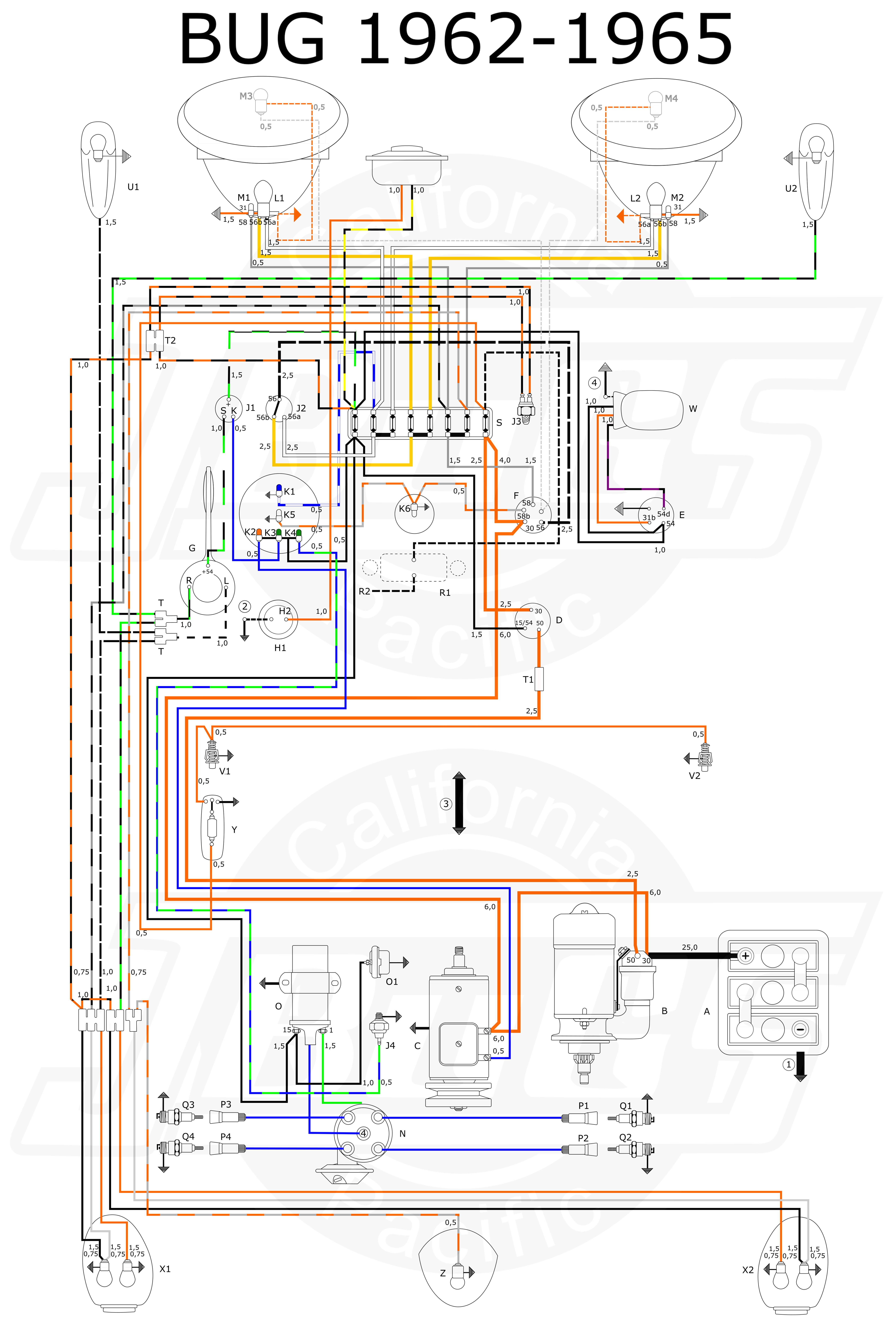 small resolution of vw tech article 1960 61 wiring diagram